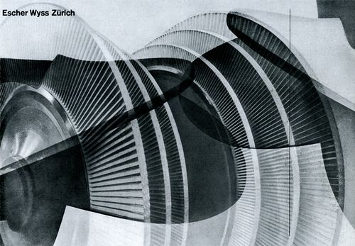 Cover for a brochure for Escher-Wyss Zürich, designed by Richard Lohse 1938