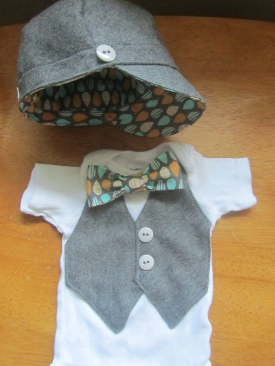 Easter Baby Boy Vest Bow Tie Dress up Onesie by BulaJeansBoutique, $21.00