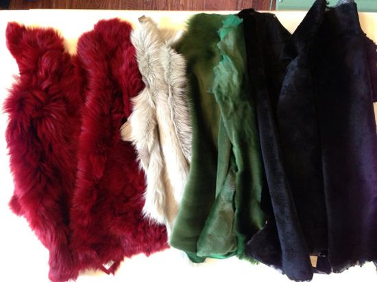 Long Hair Shearling by Measureafabricparlor on Etsy, $85.00