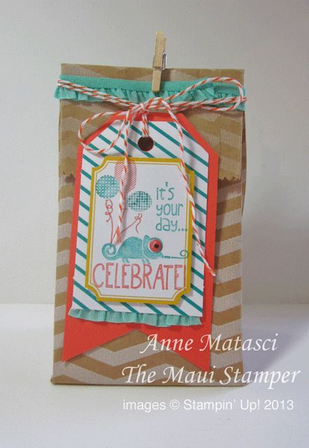 MauiStamper Tag It Handmade Gift Bag Stampin' Up! Convention 2013 Make and Take