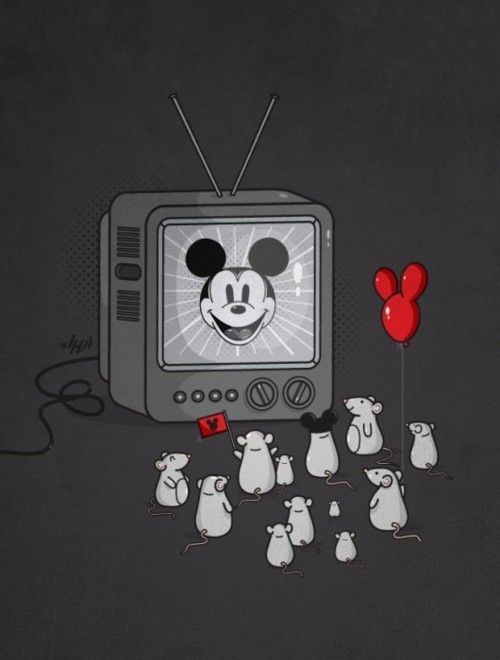 Just some mice chillin watching tv.
