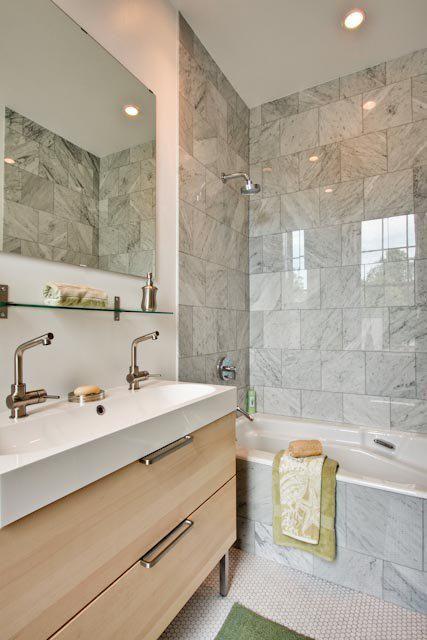 Philadelphia Contemporary Bathroom Design by Busybee Design