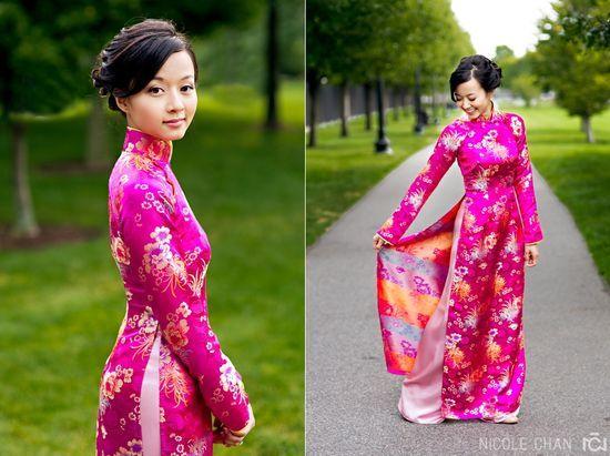 Vietnamese #wedding #aodai using a thicker #Chinese