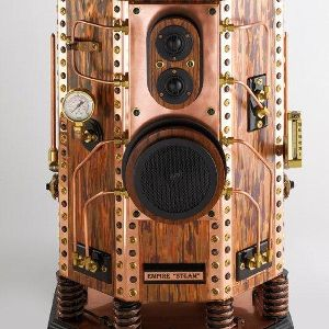 Add Some (Expensive) Class To Your Office With Empire Steampunk Speakers    ---  from InventorSpot.com --- for the coolest new products and wackiest inventions.