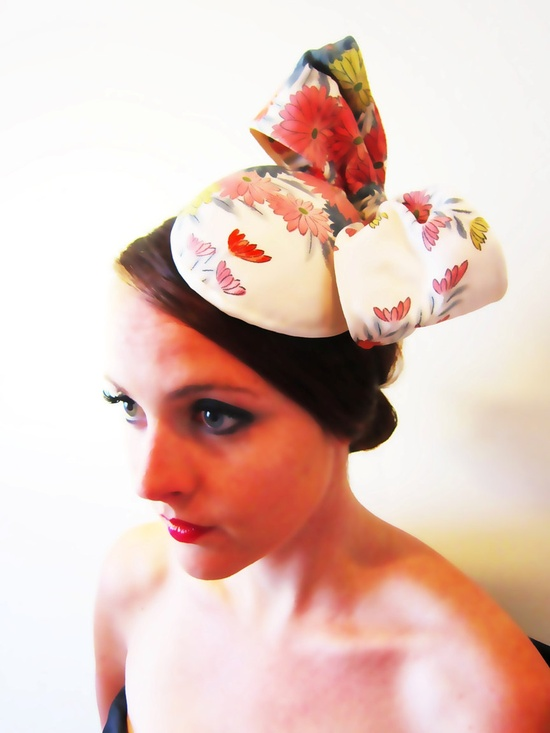 1950s Fascinator Ascot by LoveMimo on Etsy