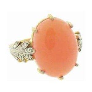 Cathy Waterman Peach Moonstone Ring