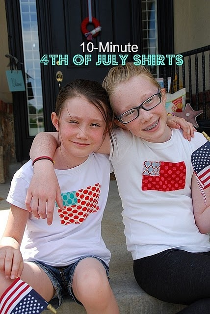 Cute 4th of July flag T's