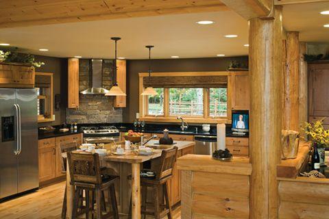 modern kitchen for log cabin