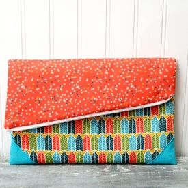 This easy DIY Fold Over Clutch is perfect for a night on the town or just a trip to the store!