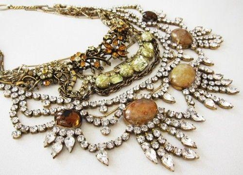 Vintage rhinestone jewelry, love