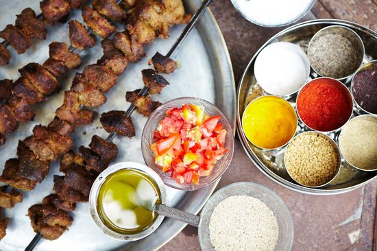 Kebabs and spices served up as part of a Rajasthani nomad's picnic. www.lonelyplanet....