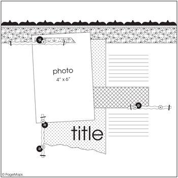 July PageMaps Sketch #1 - Scrapbook.com