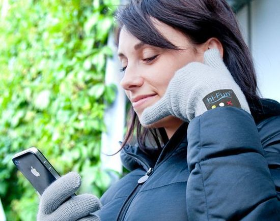 "Bluetooth smartphone gloves from Hi-Fun -- gives ""talk to the hand"" a whole new meaning."