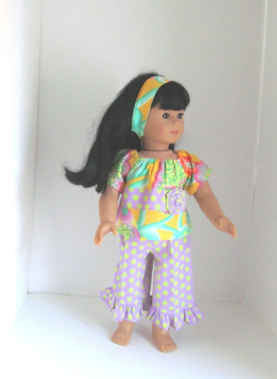 American Girl Doll clothes 3pc by saraannas on Etsy, $18.00