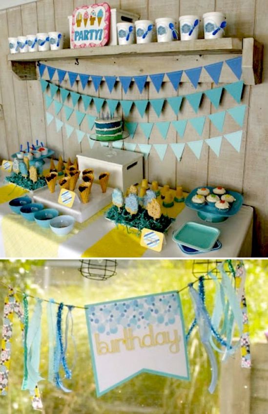 Ice Cream themed birthday party with LOTS OF IDEAS via Karas Party Ideas
