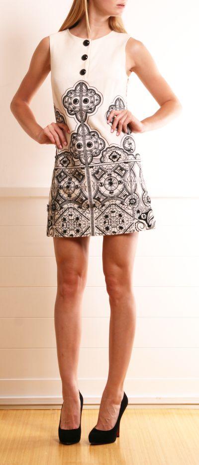 Alice + Olivia Mod Embroidered Dress