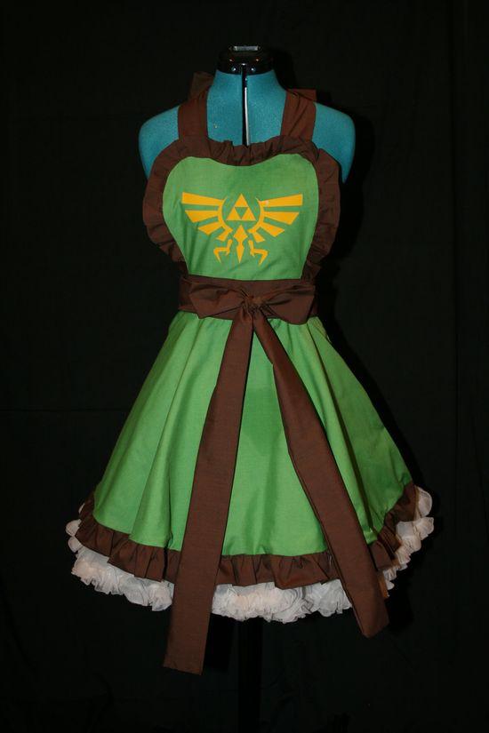 Deluxe Legend of Zelda Link Inspired Apron Pinafore Cosplay.