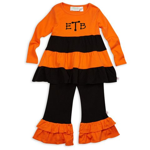 Personalized Halloween clothing at lollywollydoodle.com