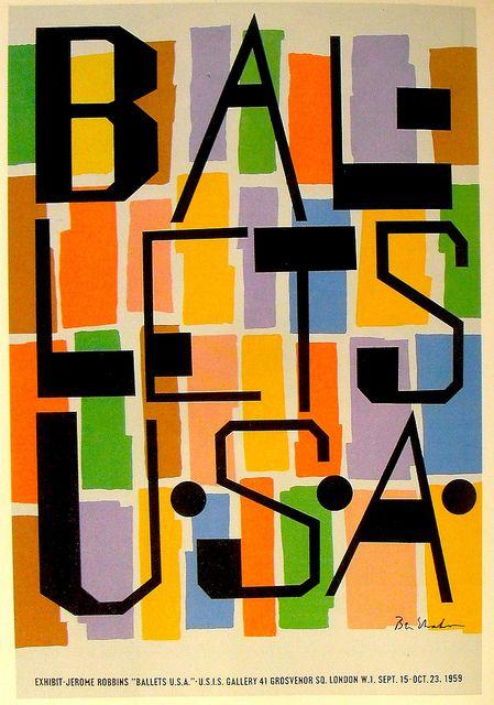 1959 Illustration Poster BEN SHAHN Ballet