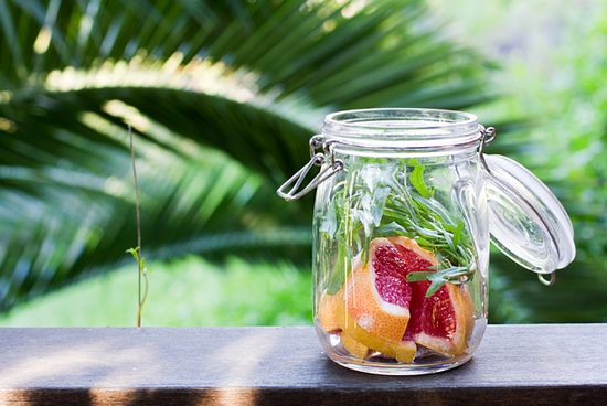 Grapefruit and Tarragon infused vodka