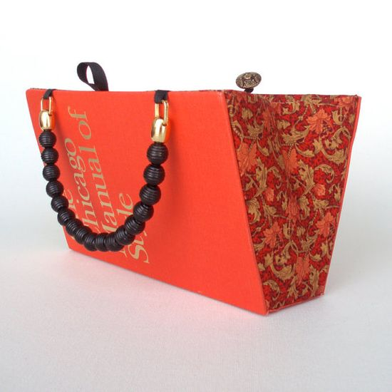 purses made from recycled books
