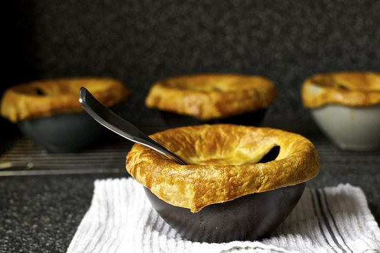 pancetta, white bean and chard pot pies by smitten, [easy to make as a vegetarian dish too]