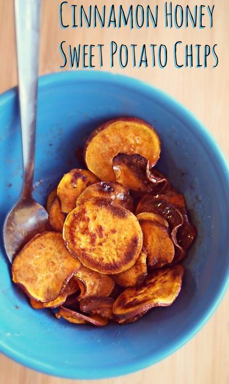 Sweet & Savory Baked Sweet Potato Chips: Cinnamon Honey, Sea Salt & Vinegar