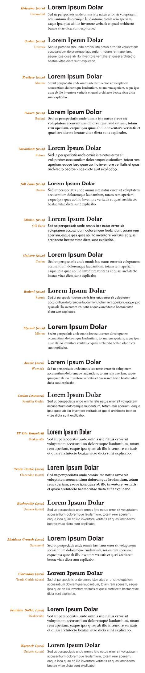 Best font combinations