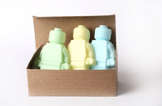 Lego Men handmade soap