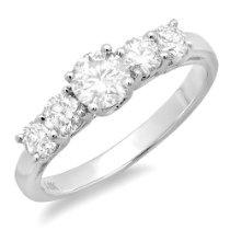 0.79 Carat (ctw) 14k White Gold Round Diamond Ladies Anniversary Wedding Ring Band