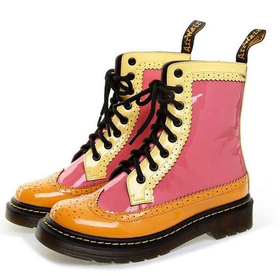 wholesale Biker boots color blocked personalized fashion girls shoes CZ-4644