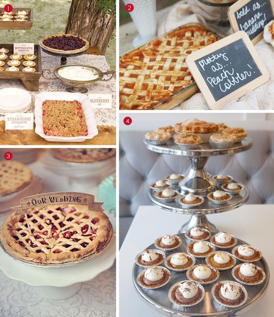 I love the down-home feel of this dessert table. #rustic #southern #wedding