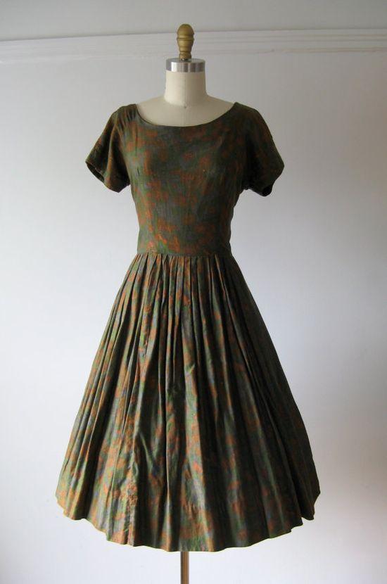 vintage #1950s #dress