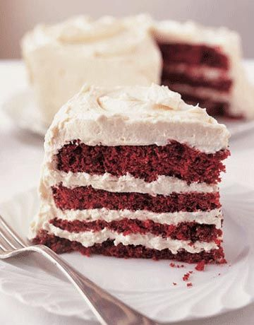 Red Velvet Cake.  This will be the BEST Red Velvet cake you EVER, ate...EVER!  The cake and frosting recipe are what my mother made and this frosting the ONLY frosting for a red velvet....not that cream cheese stuff others frost with.
