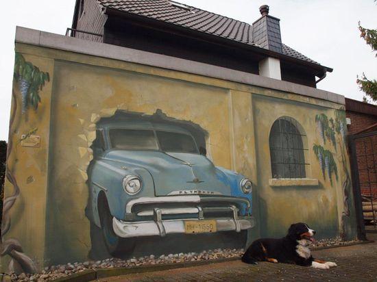 3D Street Art in Mülheim, Germany
