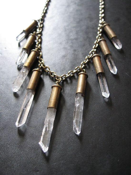 bullet bib necklace
