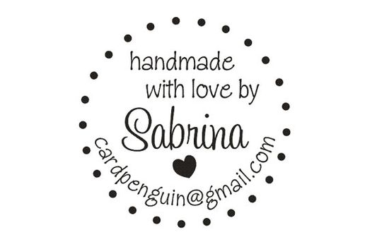 Handmade by Rubber Stamp to label your handmade projects --7513