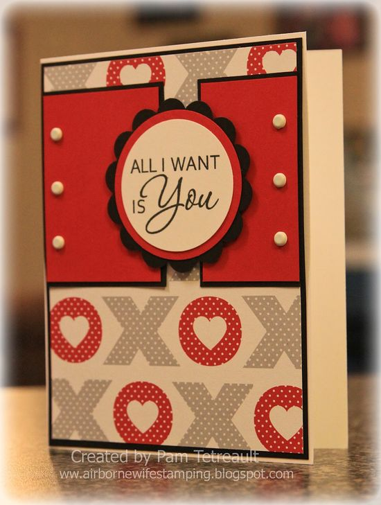 handmade Valentine card using Sketch SC103 from Split Coast Stampers ...