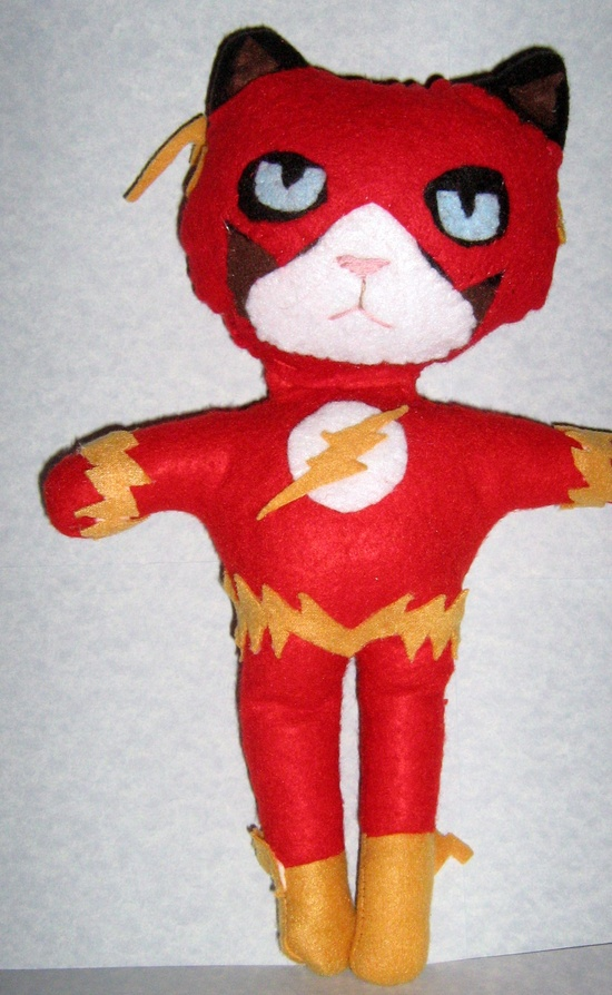 Grumpy Cat Flash Handmade Plushie