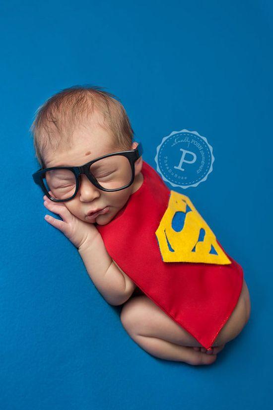 Super Hero Costumes for Newborns - Photography Prop - Halloween - Batman, Superman & Robin