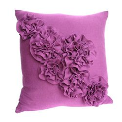 Seven Re purposing T-shirt Tutorials! Can you believe this gorgeous ruffled pillow came from an old t-shirt.