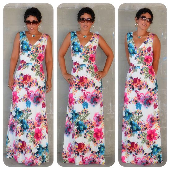 mimi g.: DIY Watercolor Maxi + Another Take on New Look Pattern 6123