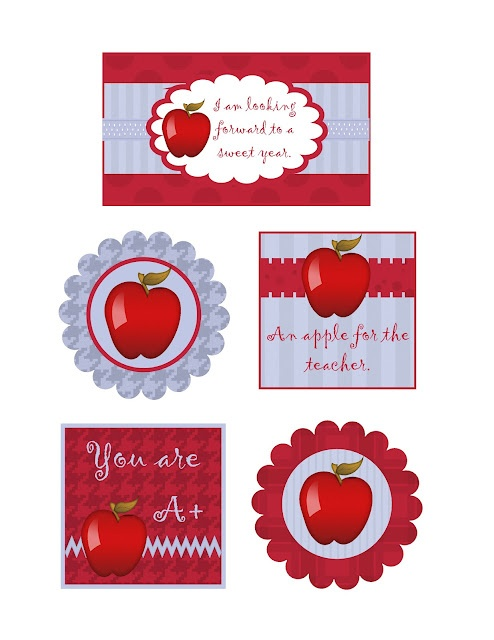 Teacher gift tags from Sweet Boutique