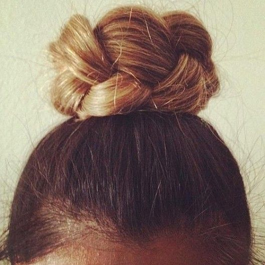simple braided bun // this is great!