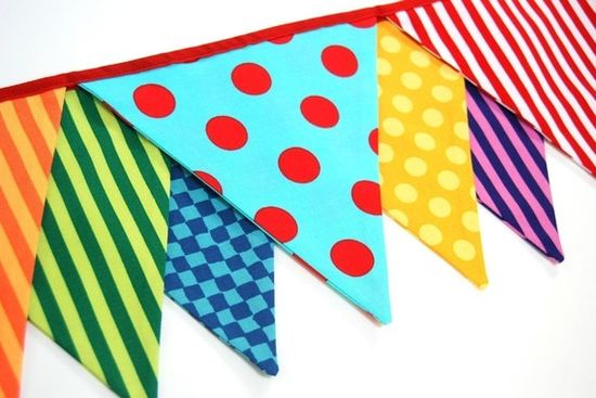 Circus Birthday Party Banner Carnival Bunting by BlueMoonStudios, $30.00
