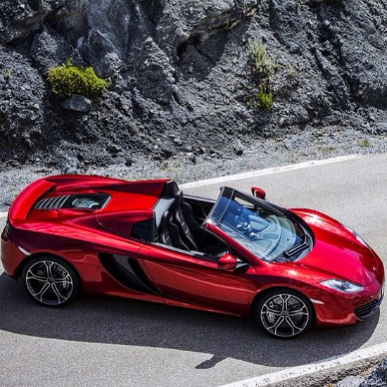 McLaren MP4-12C Convertible. One of the only cars I prefer in candy apple red.