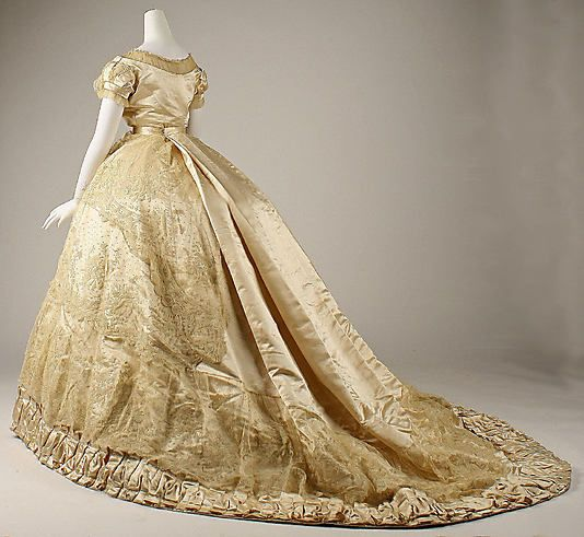 French Wedding Dress (back) 1866