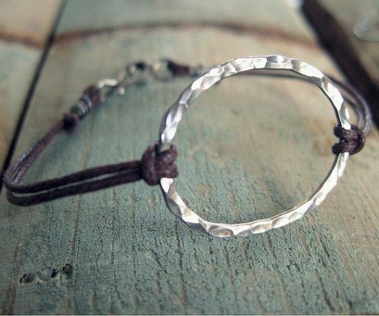 yoga bracelet  organic handmade silver jewelry by ripegoods, $48.00