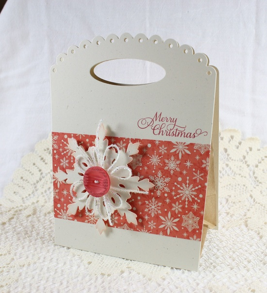 Handmade Gift Bag Merry Christmas w/ by EndlessInkHandmade