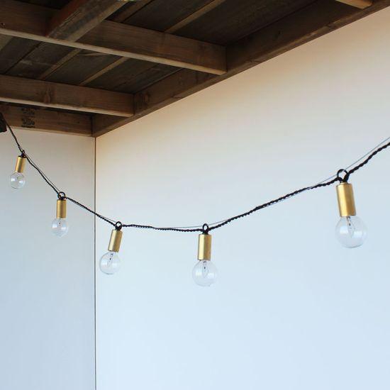 one forty three brass string lights